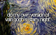 do my own version of van gogh's starry night