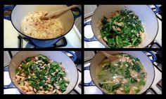 white bean kale soup / ish (potatos/unpureed option)