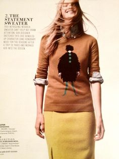 J.Crew Catalog. My favorite sweater for this season. In gray. Can't wait.