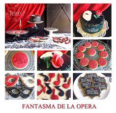 "El Fantasma de la Opera... Torta y Cookies para compartir entre el elenco del Musical ""The Phantom of the Opera"""