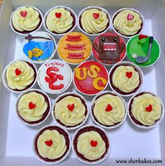 Life is too short, Eat Desserts: USC Trojans Cupcakes