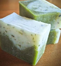 Rosemary Peppermint Soap Recipe What does a creative person do when they start feeling guilty about all of the money they spend on art supplies? They make USEABLE ART! At least, that's what …