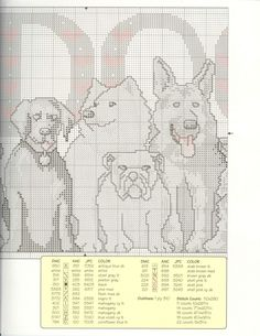 Schematic cross stitch Love Dog 03