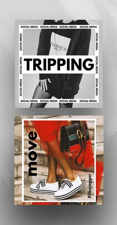 "Minimal, bold, simple yet very cool. The ""Tripping"" pack includes links to Canva. Minimal, bold, simple yet very cool. The ""Tripping"" pack includes links to Canva templates desi Social Media Bar, Social Media Detox, Social Media Branding, Social Media Images, Social Media Graphics, Web Design, Social Media Design, Book Design, Layout Design"