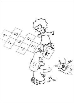 15 The Simpsons printable coloring pages for kids. Find on coloring-book thousands of coloring pages. Online Coloring Pages, Cartoon Coloring Pages, Printable Coloring Pages, Colouring Pages, Coloring Pages For Kids, Adult Coloring, Coloring Books, The Simpsons