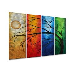 """See our web site for additional relevant information on """"metal tree wall art"""". It is actually an excellent location to get more information. Metal Tree Wall Art, Metal Wall Sculpture, Tree Sculpture, Wall Sculptures, Metal Artwork, Tree Wall Decor, Hanging Art, Wall Art Sets, Decoration"""
