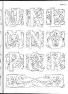 Art Nouveau Alphabet ~ This may be from  Judy Balchin's' book - 2 of 3