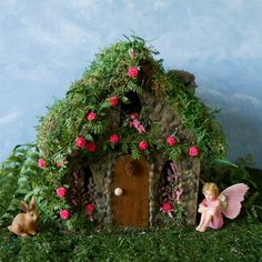 Fairy House Fairy Garden Rose Cottage Outdoor by enchantedgardens