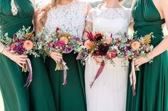 Falling In Love With Late Summer Wedding Emerald Green Bridesmaid Dresses, Spring Bridesmaid Dresses, Emerald Green Weddings, Bridesmaid Favors, Bridesmaid Ideas, Bride Dresses, Vintage Wedding Colors, Spring Wedding Colors, Flower Girl Dresses Boho