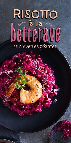 Cette recette de risotto aux bettes et aux crevettes est la nouvelle façon de mettre des sourires sur les petites bettes de vos enfants, croyez-nous. Good Food, Yummy Food, Tasty, Salad Recipes, Vegan Recipes, Clean Eating, Healthy Eating, Cuisine Diverse, Vegan Nutrition