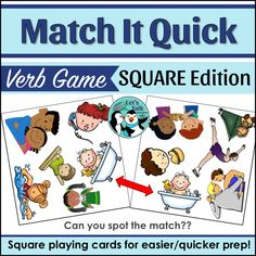 Any language verb game! Ideal for SLPs to use in language therapy or foreign language teachers working on conjugation, syntax, verbs, aux. verbs, pronouns, etc.  Logopäde Therapiematerial für Verben!
