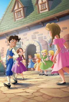 Belle and Gaston's childhood Princesa Disney Bella, Disney Belle, Disney Princess Art, Disney Nerd, Disney Memes, Disney Fan Art, Disney Dream, Disney And Dreamworks, Disney Pixar