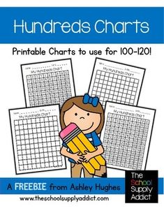 I hope this little freebie comes in handy with your math lessons! I've included...-4 large Hundreds charts ( 1-100 and 1-120)If you download this freebie, I'd LOVE your feedback! Thank you so much! I hope you enjoy it!Be sure to check out my site for more freebies, links, and ideas!The School Supply AddictAshleyfreebie, write the room, adaptable, active learning, active engagement