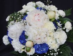 Peonies accented with Clue Carnations. Wedding 2015, Wedding Bride, Bride Bouquets, Carnations, Peonies, Brides, Floral Wreath, Wreaths, Home Decor