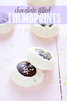 Chocolate Filled Thumbprint Cookies