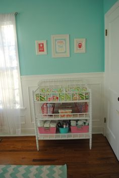 Aqua, Pink, and Green Whimsical Nursery | Project Nursery
