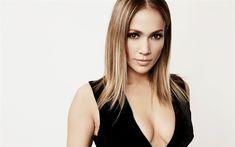Lataa kuva Jennifer Lopez, JLo, photoshoot, muotokuva, musta mekko, kasvot, make-up, Amerikkalainen laulaja, tähti, USA