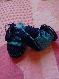 Sapatinho azul estiloso