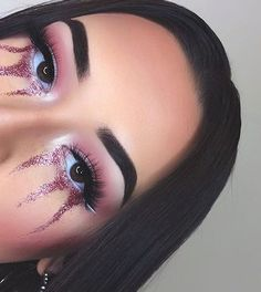 Makeup goals info are readily available on our internet site. look at this and you wont be sorry you did. Makeup Goals, Makeup Inspo, Makeup Art, Makeup Inspiration, Makeup Tips, Beauty Makeup, Rave Makeup, Makeup On Fleek, Glitter Makeup