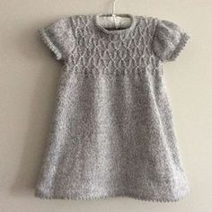 Baby Knitting Patterns Girl's Smocked Tunic and Leggings pattern by Tina Barrett Girls Knitted Dress, Knit Baby Dress, Knitted Baby Clothes, Baby Knits, Smock Dress, Knitting For Kids, Baby Knitting Patterns, Baby Patterns, Free Knitting