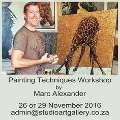 South African Artists, Painting Techniques, Workshop, Paint Techniques, Atelier