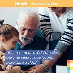 Qual a coisa mais valiosa que já aprendeu com seus avós!?  #Avós #vovô #vovó #sabedoria #amomeusavós #família #amor