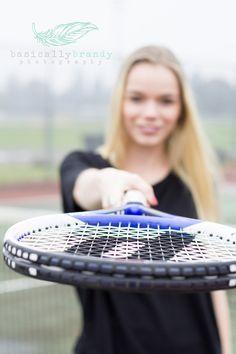 Senior portrait. Tennis. Senior/tennis picture idea. Photography