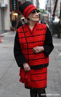 Zelda Kaplan in ADVANCED STYLE. Photo by Ari Seth Cohen, New York City. | 40plusstyle.com