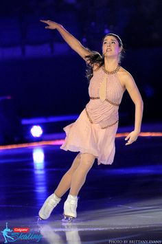 Two-time U.S. Champion Alissa Czisny performs during one of her solo numbers at the 2014 Progressive Skating & Gymnastics Spectacular. Photo taken on December 13, 2014, at Jamestown Savings Bank Arena in Jamestown, N.Y.