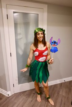 Lilo and Stitch Halloween Costume Source by CarolDendyCostumes Diy Lilo Costume, Stitch Halloween Costume, Lilo And Stitch Costume, Character Halloween Costumes, Disney Characters Costumes, Run Disney Costumes, Best Friend Halloween Costumes, Dress Up Costumes, Halloween Cosplay