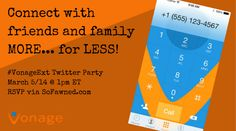 Join Us For The Vonage Twitter Party! March 5th @ 1pm ET! Rsvp, Join, March, Parties, Twitter, Fiestas, Party, Mac, Holidays