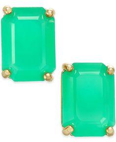 kate spade new york Gold-Tone Emerald-Cut Stud Earrings