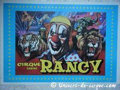 Affiche du cirque Sabine Rancy, LE spectacle des vacances de Pâques...