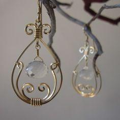 Golden Tear Earrings