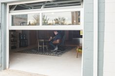 Coworking space near Stapleton & the Stanley Marketplace.  We even got one of those fancy glass garage doors!