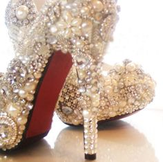 Handmade covered pearl and Crystal drill   brilliant  by Yanger218, $240.00