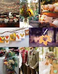 Rustic Autumn Wedding Styling Mood Board from The Wedding Community
