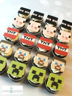 Minecraft Cupcakes - Cake by Louise Jackson Cake Design