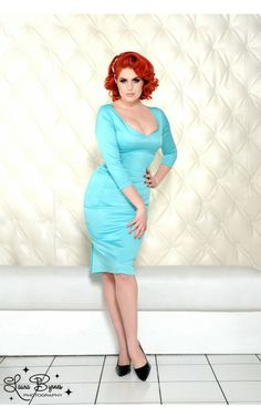 Priscilla Dress in Porcelain Blue Satin - Party Glamour - Collections | Pinup Girl Clothing