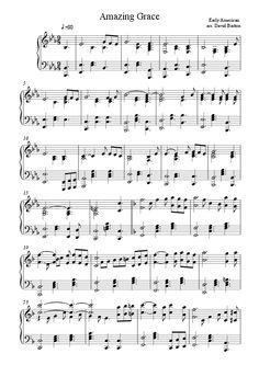 """Amazing Grace"" in ""Gospel Piano"" style"