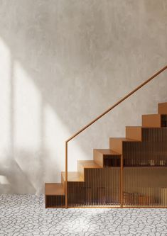 Stairs Architecture, Architecture Details, Interior Architecture, Interior Stairs, Home Interior Design, Stair Detail, Bedroom Setup, Stair Handrail, Stair Decor