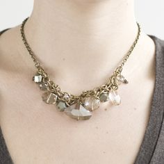stalactite collar necklace with pyrite