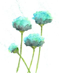 watercolor flower painting watercolor poppies by ThimbleSparrow