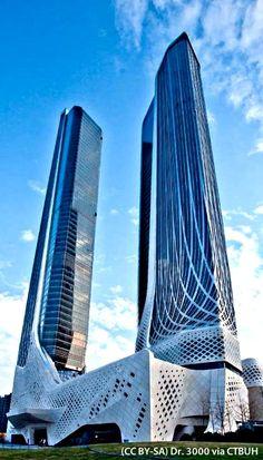 Nanjing International Youth Cultural Centre Tower 1, Nanjing-China. 314.5 m. Completion : 2015 | Architect : Zaha Hadid Architects
