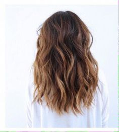 Brunette beachy waves