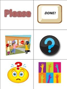 Communication Cards for Selective Mutism