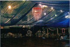 Blue gossamer ceiling by eventswithdesign, via Flickr