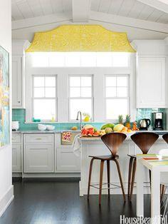 Happy Kitchen Ideas - Bright Kitchens - House Beautiful. designer mona ross berman