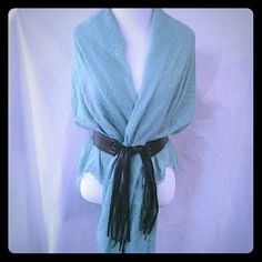 Selling this New Saachi Water Drop Mint Metallic Scarf/Wrap in my Poshmark closet! My username is: evolvingalways. #shopmycloset #poshmark #fashion #shopping #style #forsale #Saachi  #Accessories install app use invite code BPHIV for a $10 credit towards your purchase