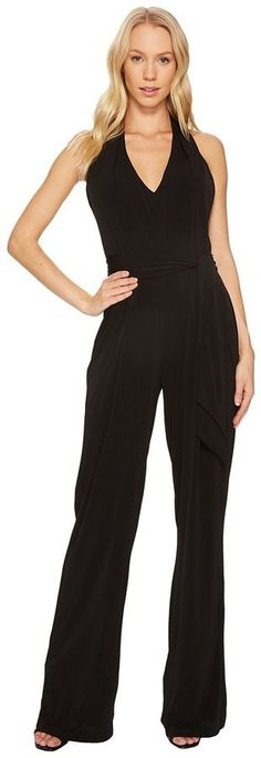 MICHAEL Michael Kors Belted Halter Jumpsuit Women's Jumpsuit & Rompers One Piece